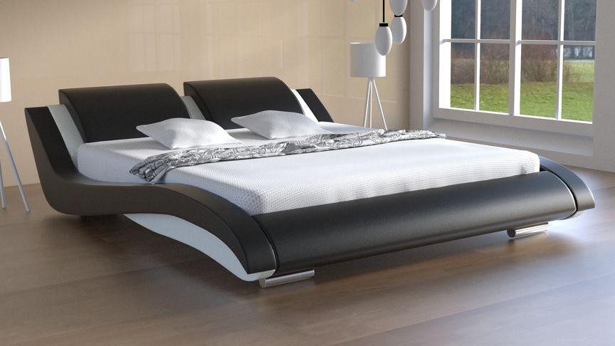 Łóżko tapicerowane Stilo-2 skóra naturalna, 160x200