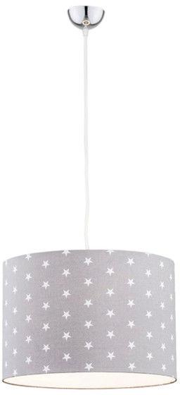 Lampa wisząca Magic 4134 Argon szara oprawa w białe gwiazdki do pokoju dziecięcego