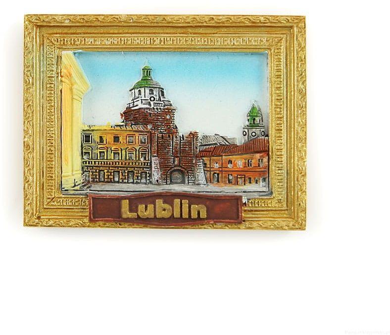 Magnes obraz złota rama Lublin Brama Krakowska