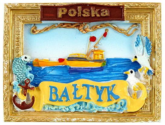 Magnes obraz złota rama Bałtyk