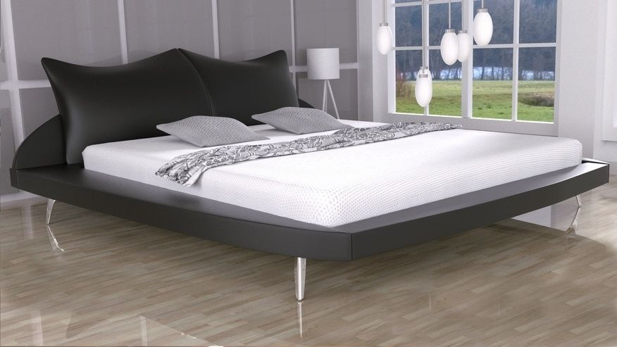 Łóżko tapicerowane Amadeus skóra naturalna, 180x200