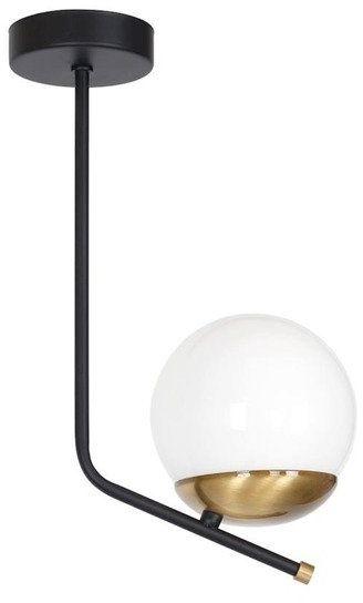 Lampa sufitowa nowoczesna kula CARINA czarny/biały