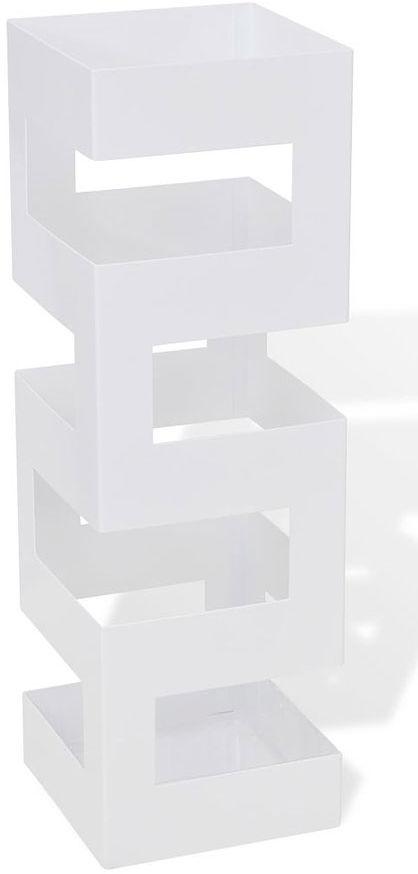 Biały designerski stojak na parasole - Nauro 2S