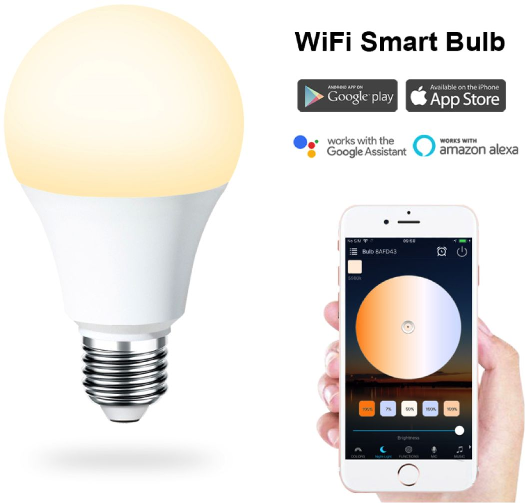 Żarówka Smart Bulb LED WiFi 6,5W white