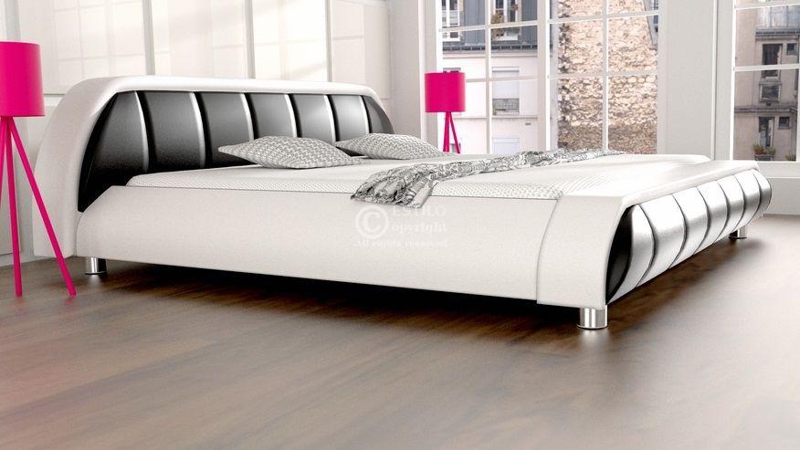 Łóżko do sypialni Blues skóra naturalna 200x220