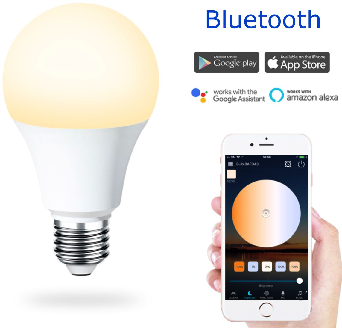 Żarówka Smart Bulb LED bluetooth 4,5W white