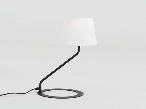 Lampa stołowa Shade Table biały klosz czarna podstawa