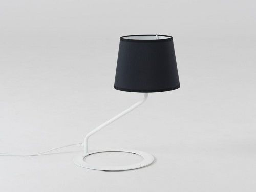 Lampa stołowa Shade Table czarny klosz biała podstawa