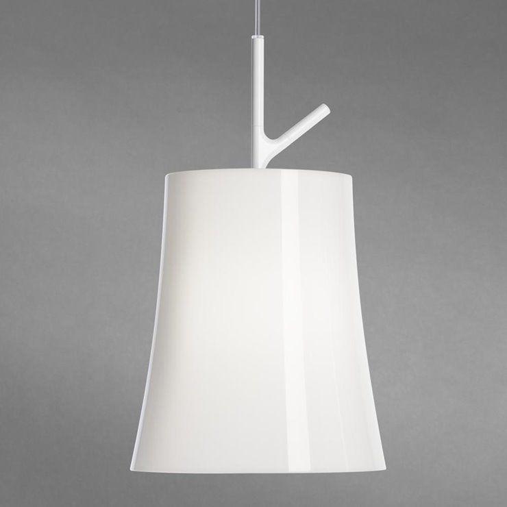 Birdie Grande Ø25 biały - Foscarini - lampa wisząca