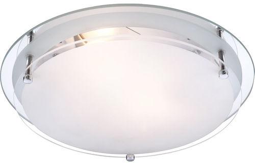 Globo plafon lampa sufitowa Indi 48167-2 chrom matowe szkło 31,5cm