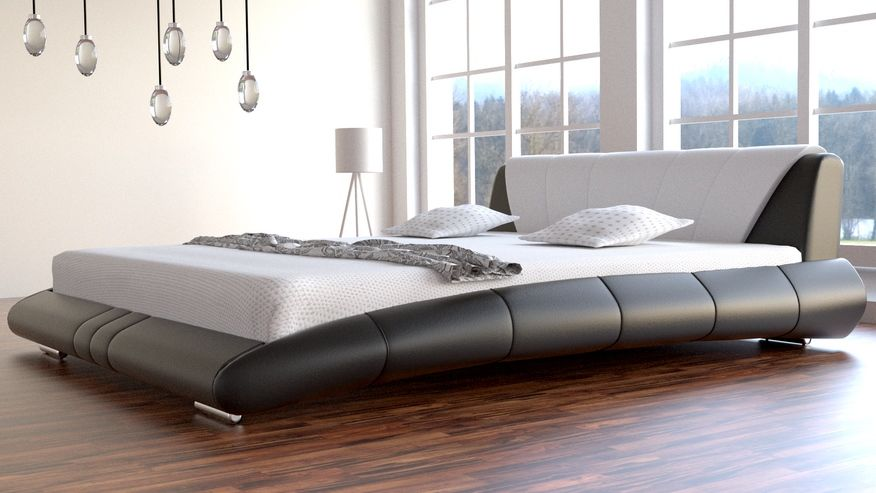 Łóżko do sypialni Lazurro skóra naturalna