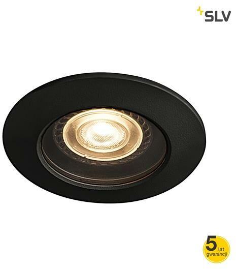 Oprawa do wbudowania DARCO GU10 czarna 1001930 - SLV  Sprawdź kupony i rabaty w koszyku  Zamów tel  533-810-034