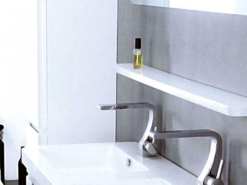 Półka pod lustrem w łazience TEXAS, biała