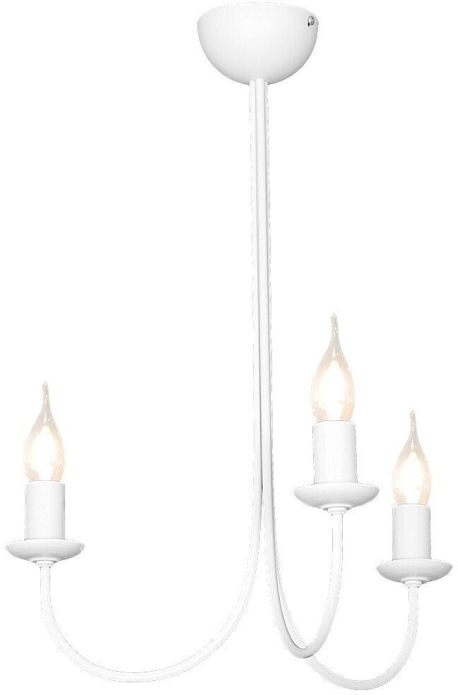 Żyrandol FEB 831E Aldex potrójna biała oprawa w minimalistycznym stylu