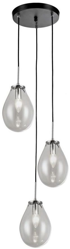 Lampa wisząca FONDI transparentna E14 LIGHT PRESTIGE