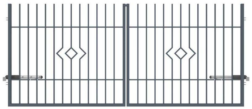 Brama dwuskrzydłowa LILA 350 x 150 cm POLARGOS