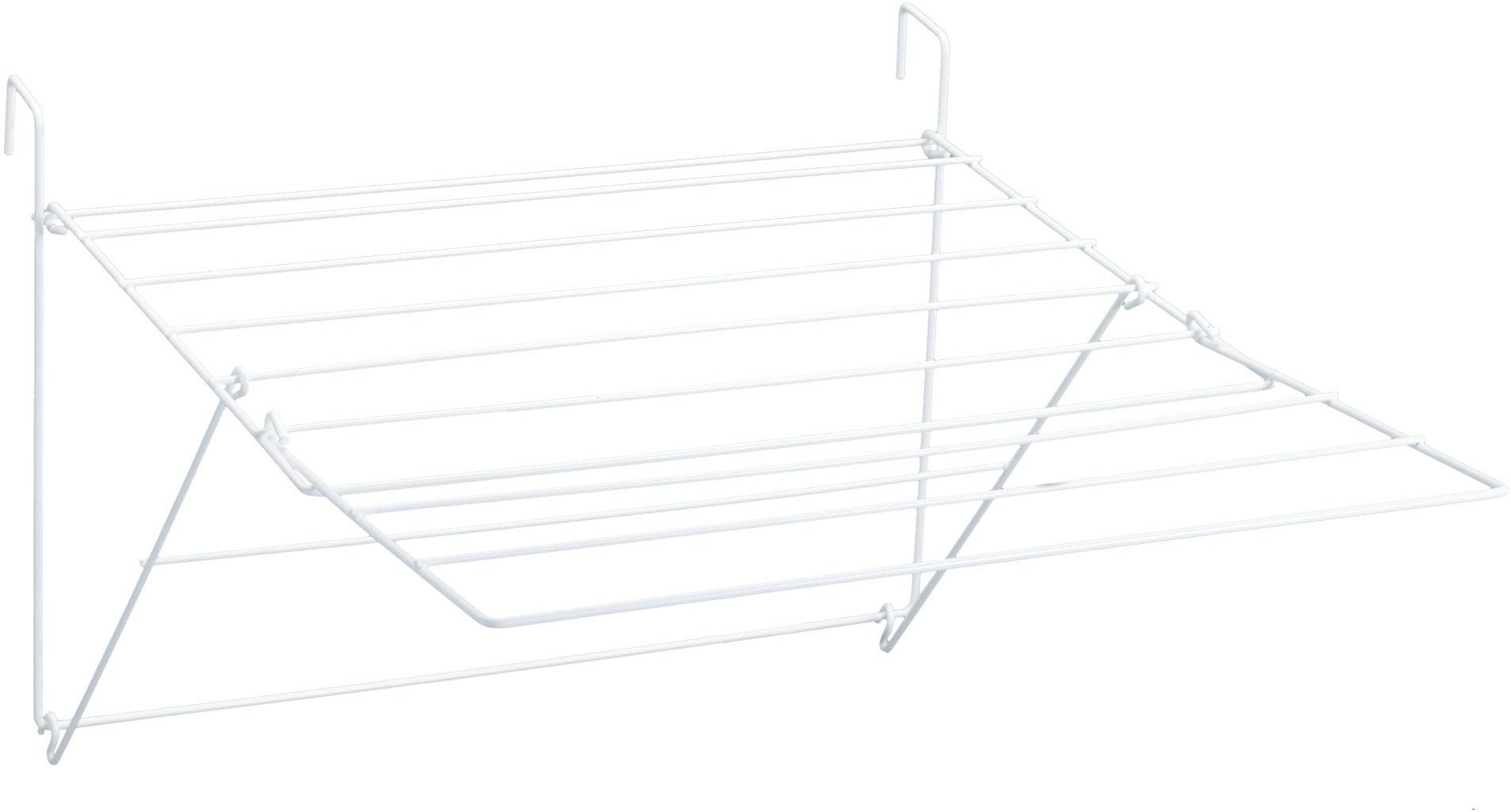 Sauvic biała plastikowa powłoka balkonowa rozkładana sofa do ubrań, stal 61 x 87 x 32 cm