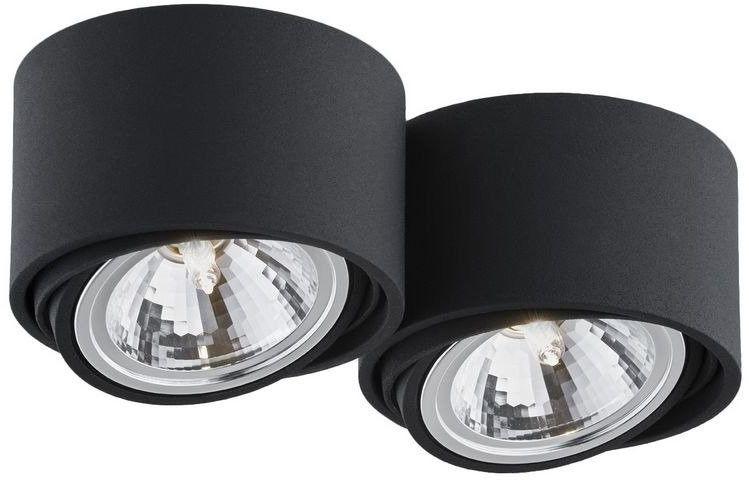 Kaspa - oprawa stropowa natynkowa podwójna - lumos - czarna