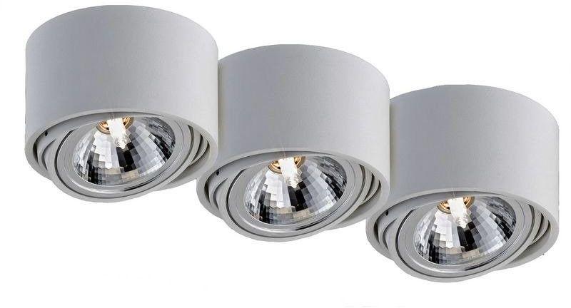 Kaspa - oprawa stropowa natynkowa potrójna - lumos - biała