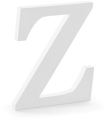 Drewniana litera Z biała 20cm DL1-Z-008