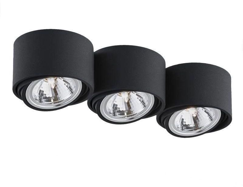 Kaspa - oprawa stropowa natynkowa potrójna - lumos - czarna