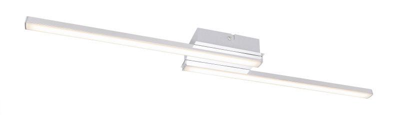 Globo MARBELLA 41921-12 lampa sufitowa nikiel-mat LED 12W 4000K 64cm