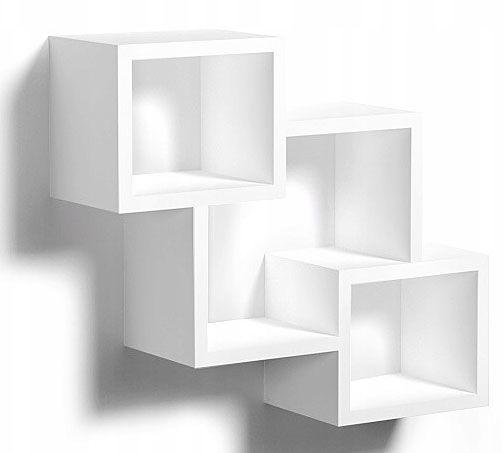 Biała skandynawska półka wisząca - Apolla