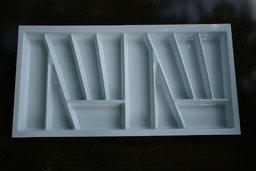 Wkład szuflady 430x90 biały ( 83cm x 43cm x 5cm)