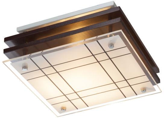 Globo KADAVU 48089 lampa sufitowa ciemnobrązowa E27 23,5cm
