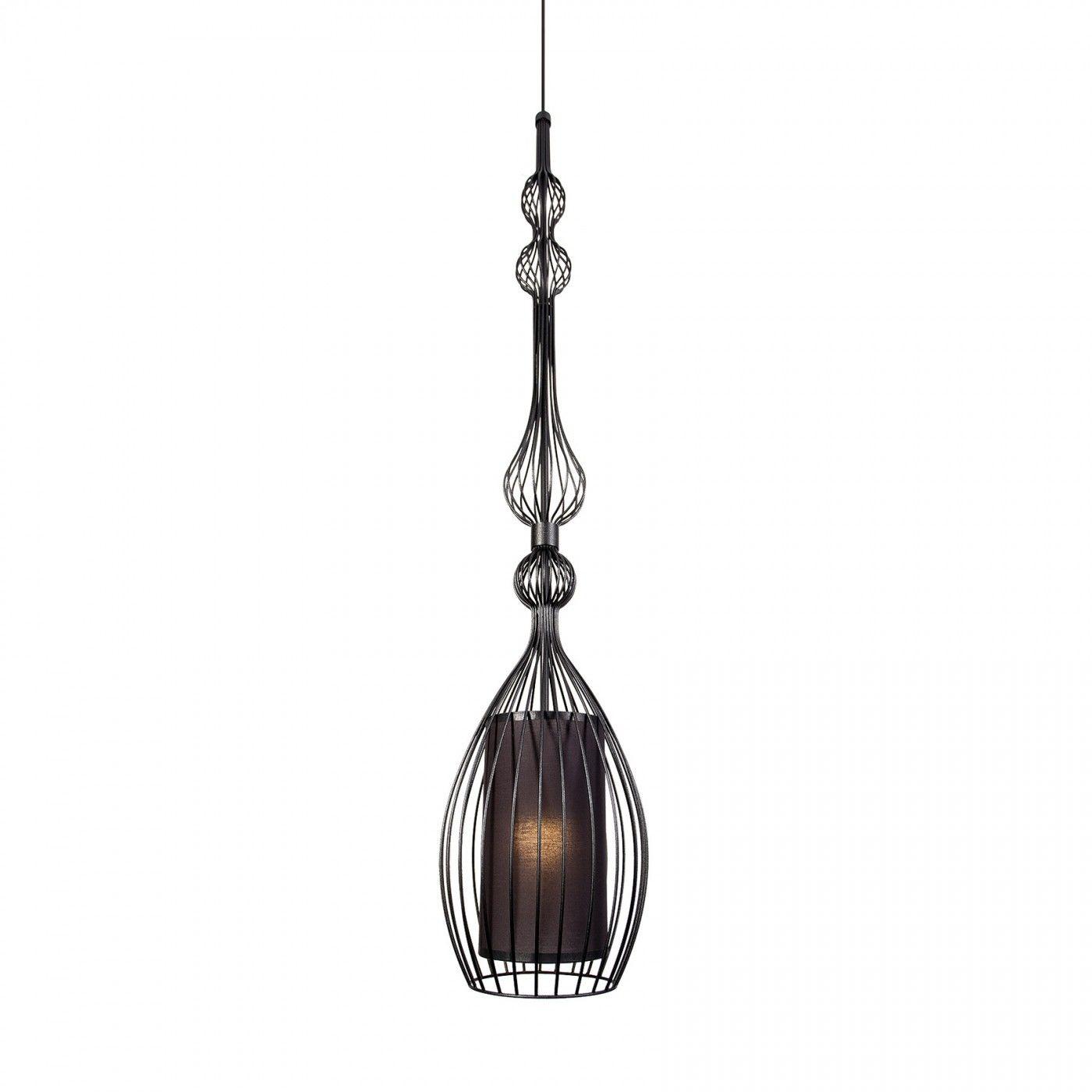 Lampa wisząca Abi L 8864 BL Nowodvorski Lighting nowoczesna dekoracyjna oprawa w kolorze czarnym