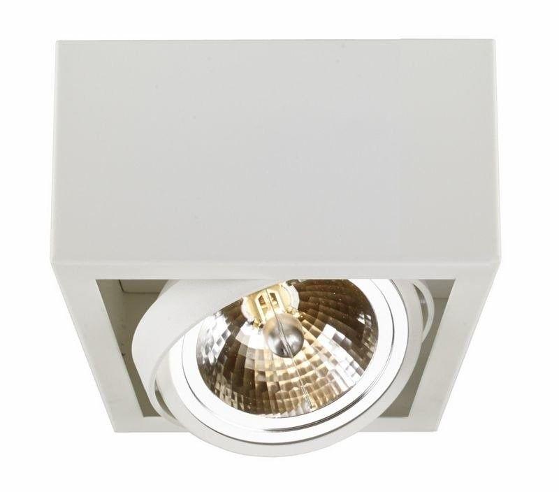 Kaspa - oprawa stropowa natynkowa pojedyncza - cube - biała