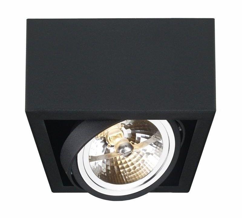 Kaspa - oprawa stropowa natynkowa pojedyncza - cube - czarna