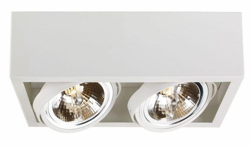 Kaspa - oprawa stropowa natynkowa podwójna - cube - biała