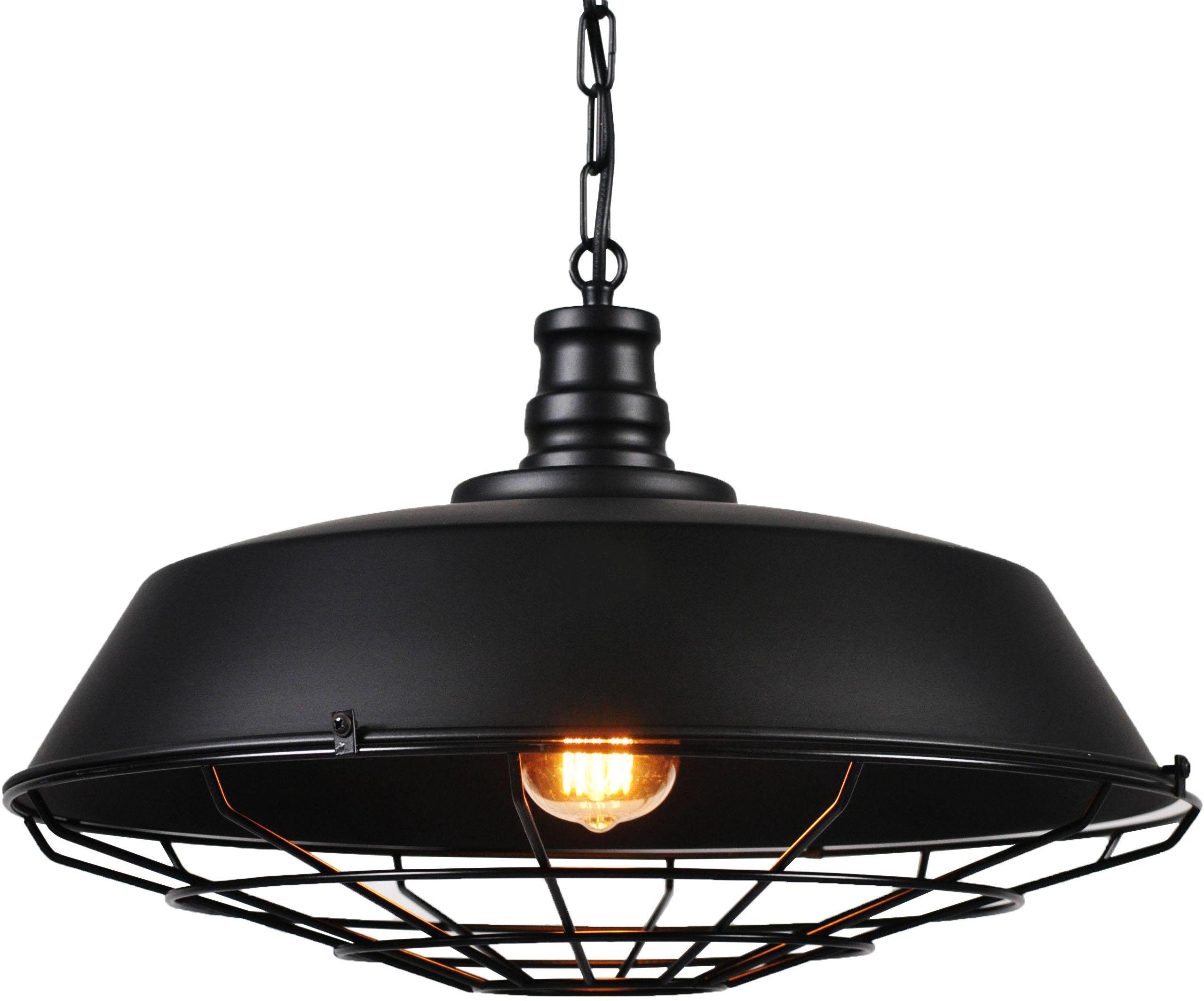 LAMPA WISZĄCA INDUSTRIALNA LOFT CZARNA ARIGIO D45