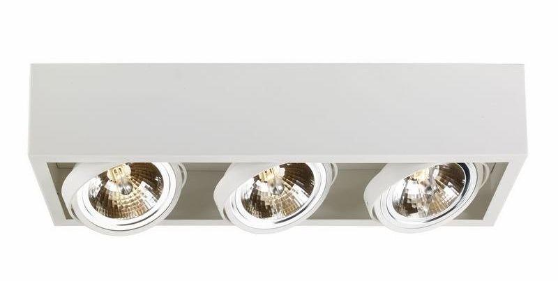 Kaspa - oprawa stropowa natynkowa potrójna - cube - biała