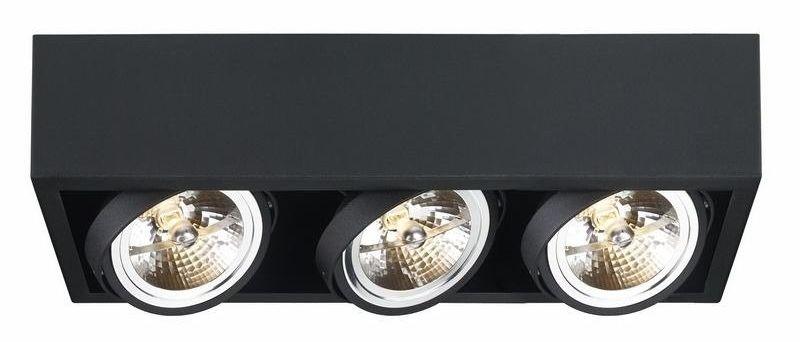 Kaspa - oprawa stropowa natynkowa potrójna - cube - czarna
