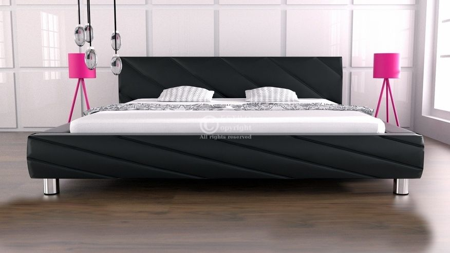 Łóżko do sypialni Apollo skóra naturalna 200x200