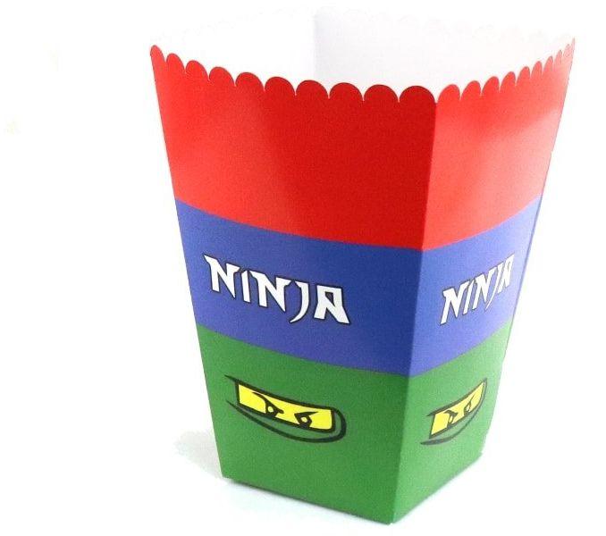 Pudełka na popcorn Ninja - 6 szt.