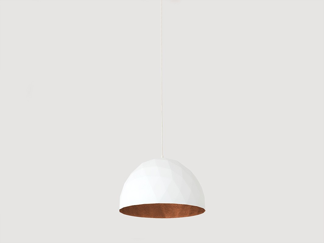 Lampa wisząca LEONARD M - miedziano-biały - Customform