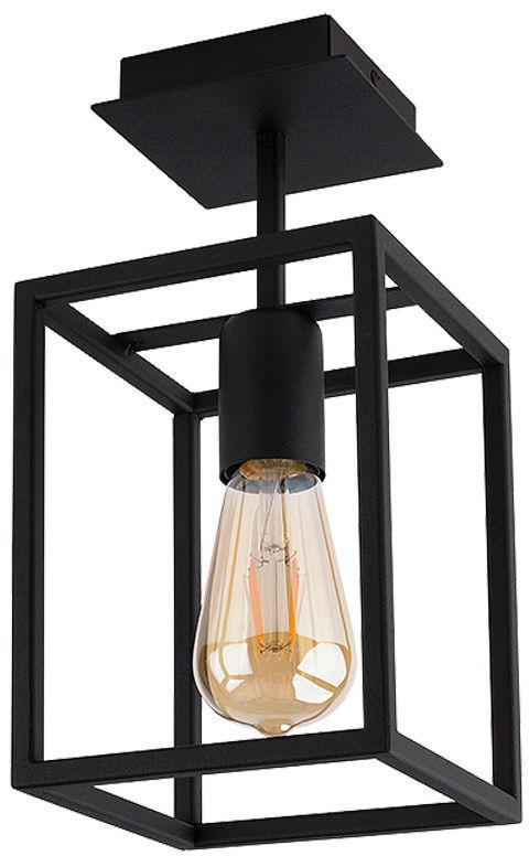 Plafon Crate 9045 Nowodvorski Lighting czarna geometryczna oprawa w stylu loft