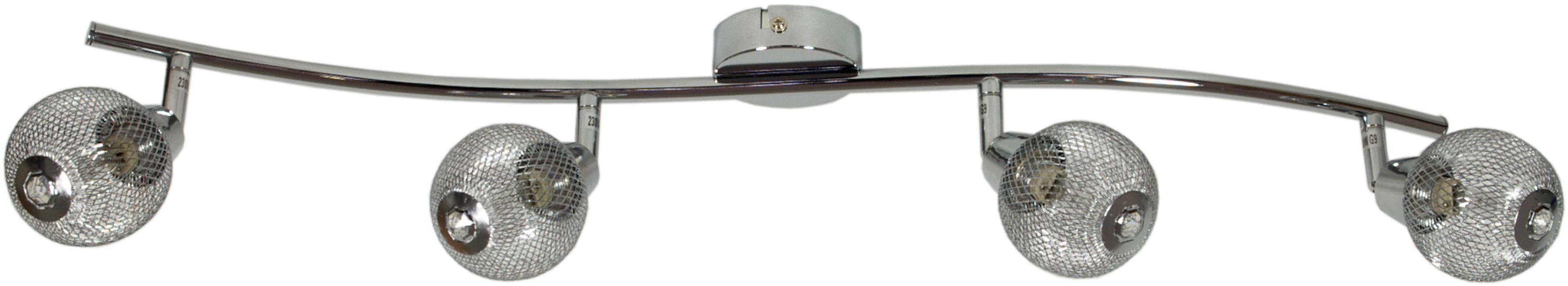 Candellux NOVEL 94-06981 listwa oświetleniowa chrom kryształ 4X40W G9 84cm