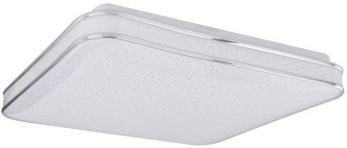 Globo LASSY 48406-24 plafon lampa sufitowa biała chrom LED 24W 3000K 33,5cm