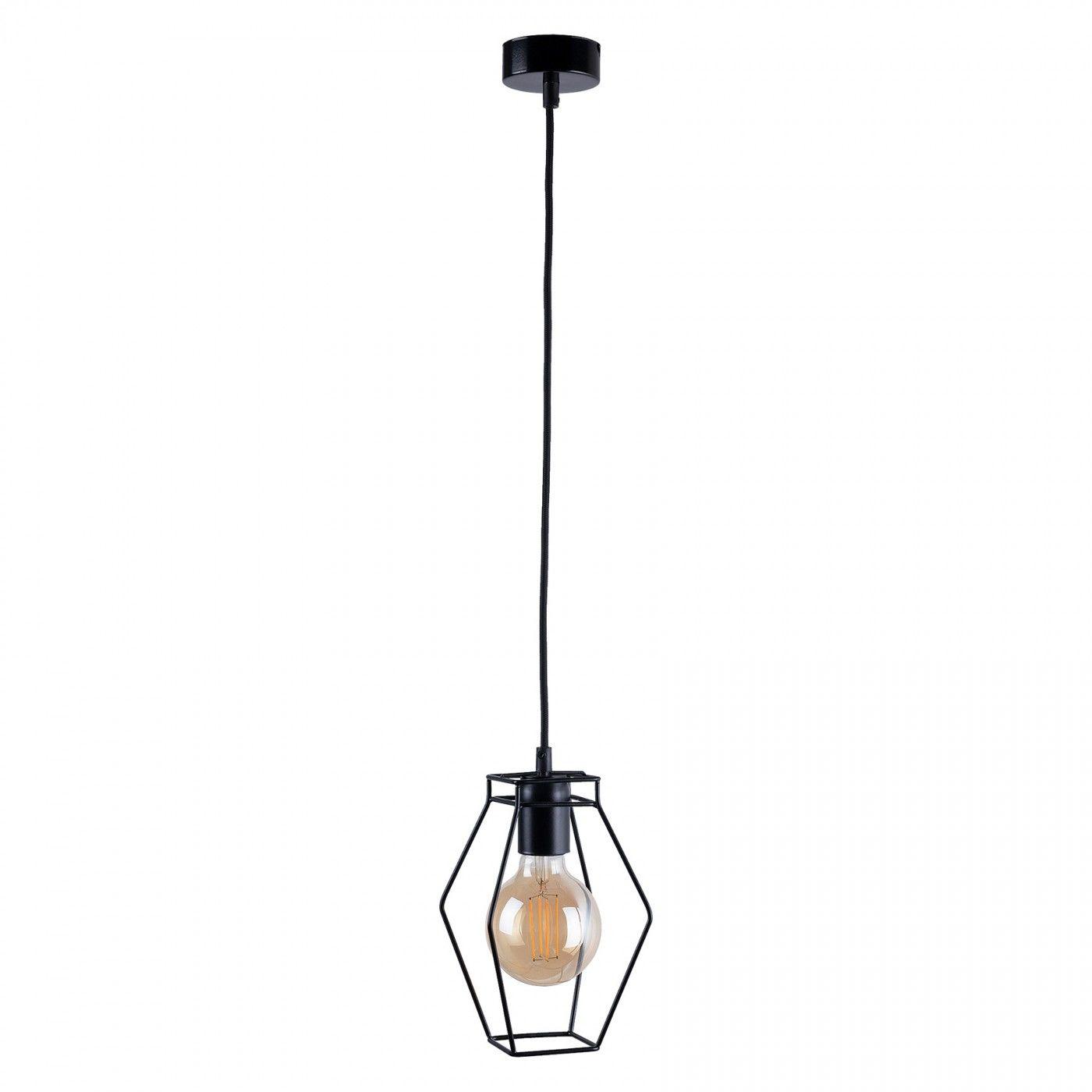 Lampa wisząca Fiord 9670 Nowodvorski Lighting pojedynczy czarny zwis w nowoczesnym stylu