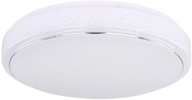 Globo KALLE 48408-24 plafon lampa sufitowa biała chrom LED 24W 3000-6000K 37,5cm