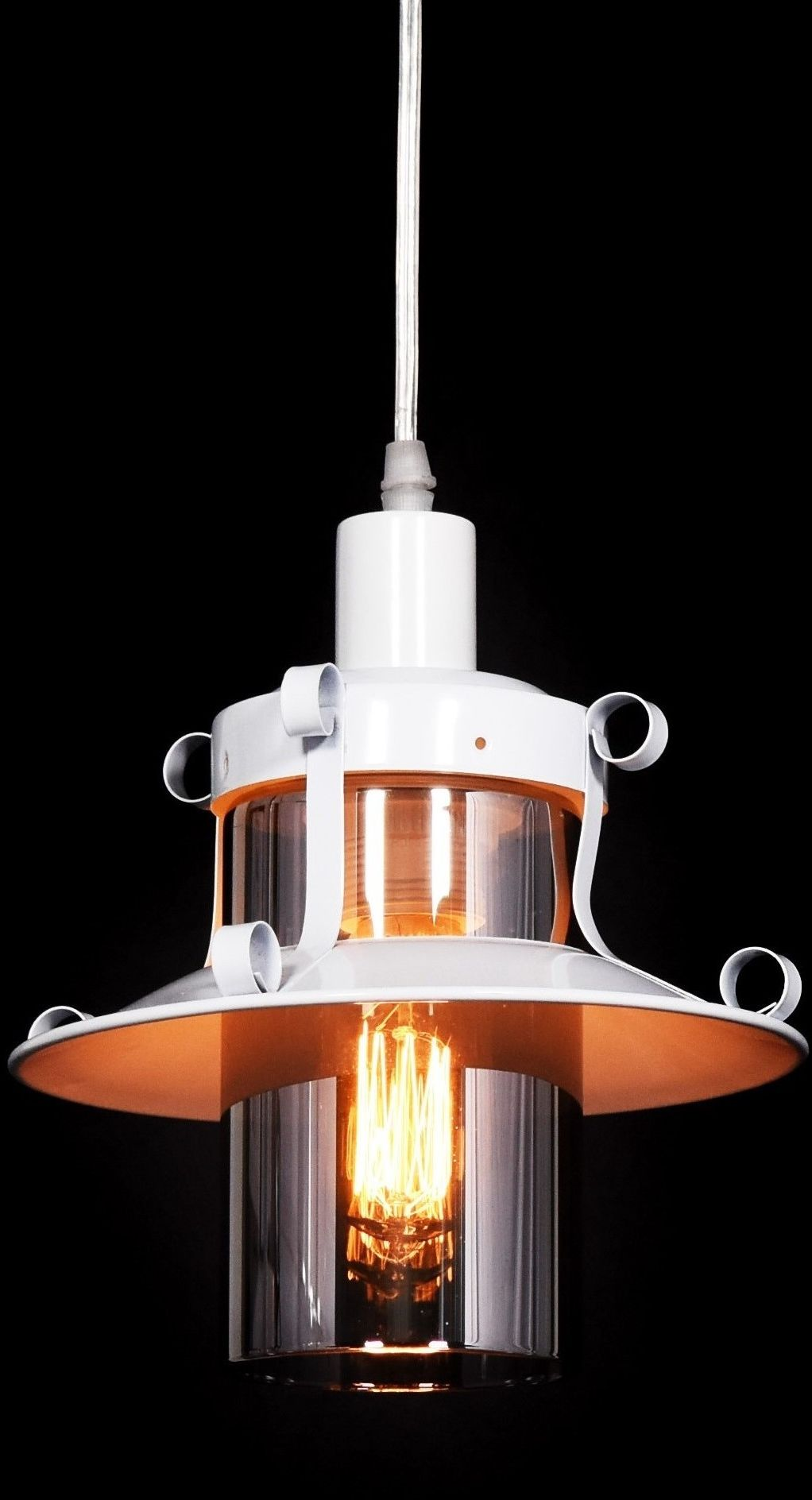 LAMPA WISZĄCA INDUSTRIALNA LOFT BIAŁA CAPRI W1