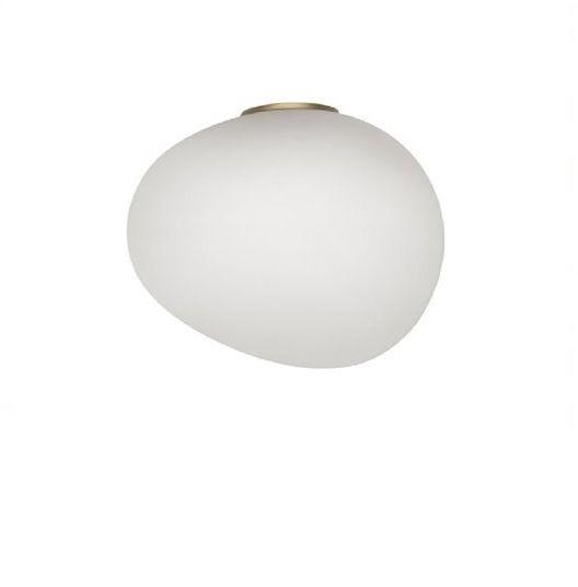 Gregg Piccola Ø13 biały, złoty - Foscarini - lampa ścienna