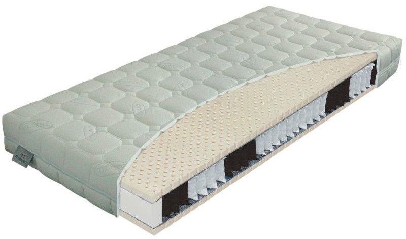 Materac PRIMATOR BIO-EX ROYAL MATERASSO kieszeniowo-lateksowy : Rozmiar - 200x200, Twardość - H3, Pokrowce Materasso - Lyocell