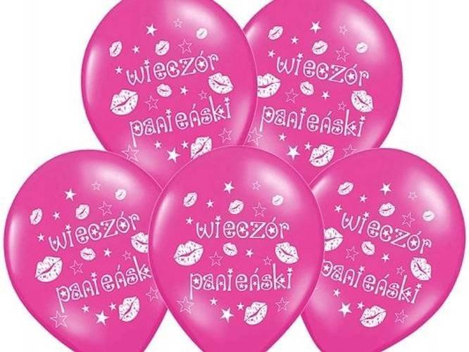 Balony na Wieczór Panieński różowe - 30 cm - 6 szt.