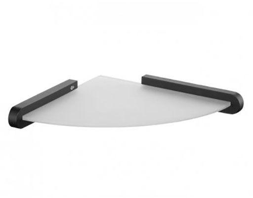 Półka łazienkowa 24 x 24 cm Bisk FUTURA znal + szkło matowe czarna