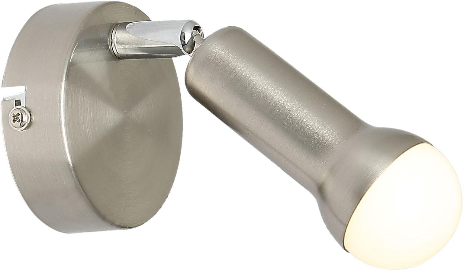 Candellux ARC 91-63281 kinkiet lampa ścienna satyna nikiel mikrofon 1X40W E14 4,5cm